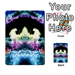 Space Cosmos Black Blue White Red Multi Purpose Cards (rectangle)  by Costasonlineshop