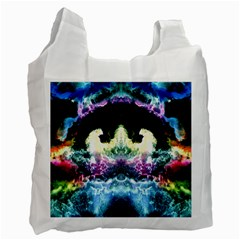 Space Cosmos Black Blue White Red Recycle Bag (two Side)