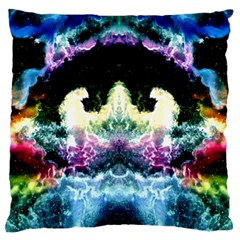 Space Cosmos Black Blue White Red Large Flano Cushion Cases (one Side)