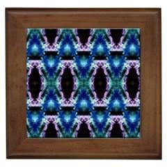 Blue, Light Blue, Metallic Diamond Pattern Framed Tiles