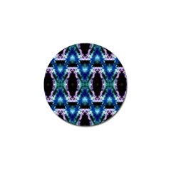 Blue, Light Blue, Metallic Diamond Pattern Golf Ball Marker (10 Pack) by Costasonlineshop