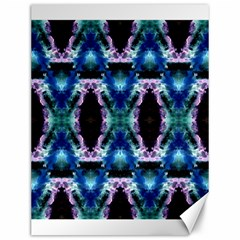 Blue, Light Blue, Metallic Diamond Pattern Canvas 12  X 16