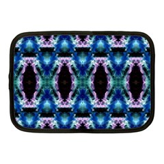 Blue, Light Blue, Metallic Diamond Pattern Netbook Case (medium)