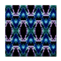 Blue, Light Blue, Metallic Diamond Pattern Face Towel by Costasonlineshop