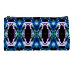 Blue, Light Blue, Metallic Diamond Pattern Pencil Cases by Costasonlineshop