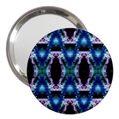 Blue, Light Blue, Metallic Diamond Pattern 3  Handbag Mirrors