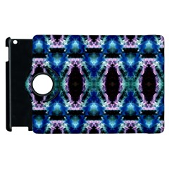 Blue, Light Blue, Metallic Diamond Pattern Apple Ipad 2 Flip 360 Case