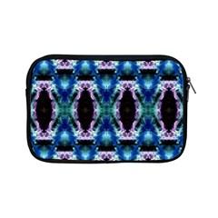 Blue, Light Blue, Metallic Diamond Pattern Apple Ipad Mini Zipper Cases by Costasonlineshop