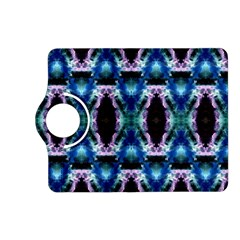 Blue, Light Blue, Metallic Diamond Pattern Kindle Fire Hd (2013) Flip 360 Case by Costasonlineshop