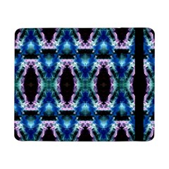 Blue, Light Blue, Metallic Diamond Pattern Samsung Galaxy Tab Pro 8 4  Flip Case by Costasonlineshop