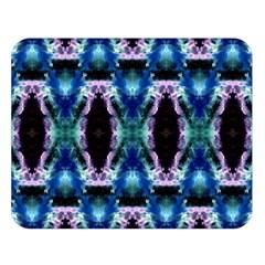 Blue, Light Blue, Metallic Diamond Pattern Double Sided Flano Blanket (large)  by Costasonlineshop