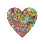 Colorful Autumn Magnet (Heart)