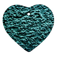 Blue Green  Wall Background Ornament (heart)