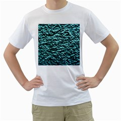 Blue Green  Wall Background Men s T Shirt (white) (two Sided) by Costasonlineshop