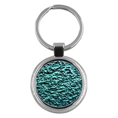 Blue Green  Wall Background Key Chains (round)