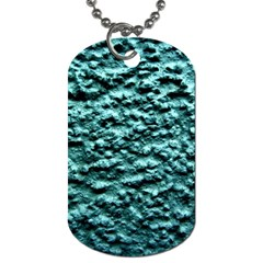 Blue Green  Wall Background Dog Tag (one Side)
