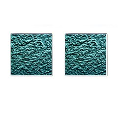 Blue Green  Wall Background Cufflinks (square)