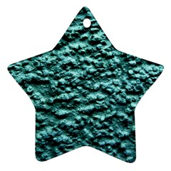 Blue Green  Wall Background Star Ornament (Two Sides)  by Costasonlineshop