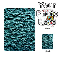 Blue Green  Wall Background Multi Purpose Cards (rectangle)  by Costasonlineshop