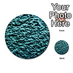 Blue Green  Wall Background Multi Purpose Cards (round)  by Costasonlineshop
