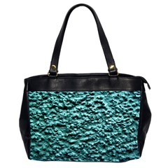 Blue Green  Wall Background Office Handbags (2 Sides)  by Costasonlineshop