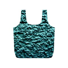 Blue Green  Wall Background Full Print Recycle Bags (S)  by Costasonlineshop