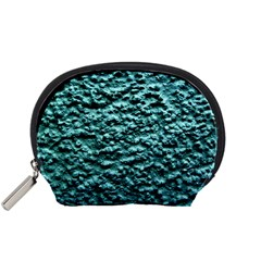 Blue Green  Wall Background Accessory Pouches (small)  by Costasonlineshop