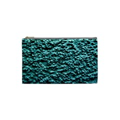 Blue Green  Wall Background Cosmetic Bag (xs) by Costasonlineshop