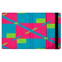 Rectangles And Diagonal Stripes			apple Ipad 2 Flip Case by LalyLauraFLM