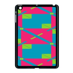 Rectangles And Diagonal Stripes			apple Ipad Mini Case (black) by LalyLauraFLM