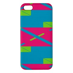 Rectangles And Diagonal Stripes			iphone 5s Premium Hardshell Case by LalyLauraFLM