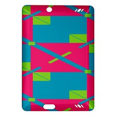 Rectangles And Diagonal Stripes			kindle Fire Hd (2013) Hardshell Case by LalyLauraFLM