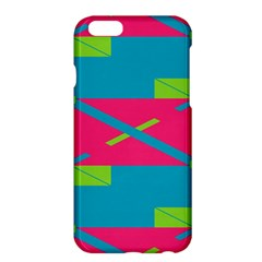 Rectangles And Diagonal Stripes			apple Iphone 6 Plus/6s Plus Hardshell Case by LalyLauraFLM