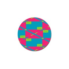 Rectangles And Diagonal Stripes			golf Ball Marker by LalyLauraFLM