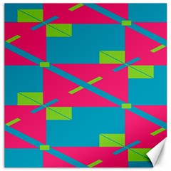 Rectangles And Diagonal Stripes			canvas 12  X 12  by LalyLauraFLM