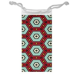 Hexagons Pattern Jewelry Bag by LalyLauraFLM