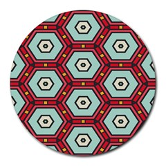 Hexagons Pattern			round Mousepad by LalyLauraFLM