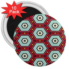 Hexagons Pattern			3  Magnet (10 Pack)