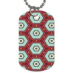 Hexagons Pattern			dog Tag (one Side) by LalyLauraFLM