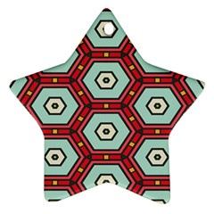 Hexagons Patternornament (star) by LalyLauraFLM