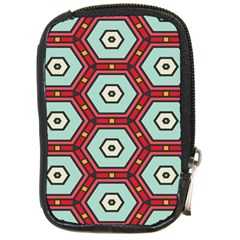 Hexagons patternCompact Camera Leather Case by LalyLauraFLM
