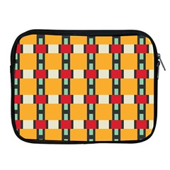 Rectangles And Squares Pattern			apple Ipad 2/3/4 Zipper Case by LalyLauraFLM