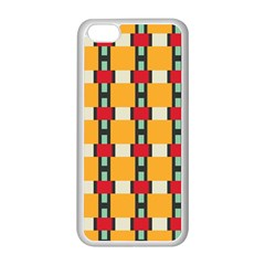Rectangles And Squares Pattern			apple Iphone 5c Seamless Case (white) by LalyLauraFLM
