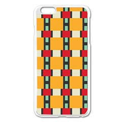 Rectangles And Squares Pattern			apple Iphone 6 Plus/6s Plus Enamel White Case by LalyLauraFLM