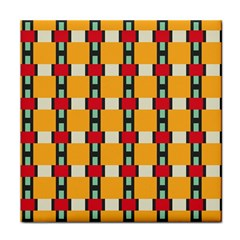Rectangles And Squares Pattern			tile Coaster by LalyLauraFLM