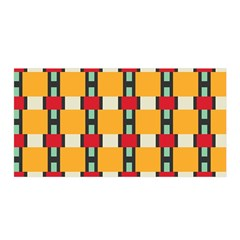 Rectangles And Squares Pattern Satin Wrap by LalyLauraFLM