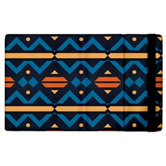 Rhombus  circles and waves pattern			Apple iPad 3/4 Flip Case by LalyLauraFLM