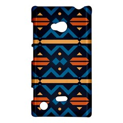 Rhombus  Circles And Waves Pattern			nokia Lumia 720 Hardshell Case by LalyLauraFLM