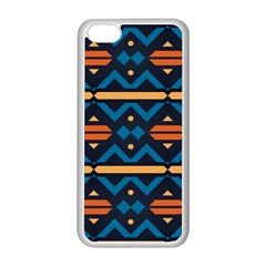Rhombus  Circles And Waves Pattern			apple Iphone 5c Seamless Case (white) by LalyLauraFLM