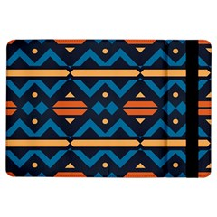 Rhombus  Circles And Waves Pattern			apple Ipad Air Flip Case by LalyLauraFLM